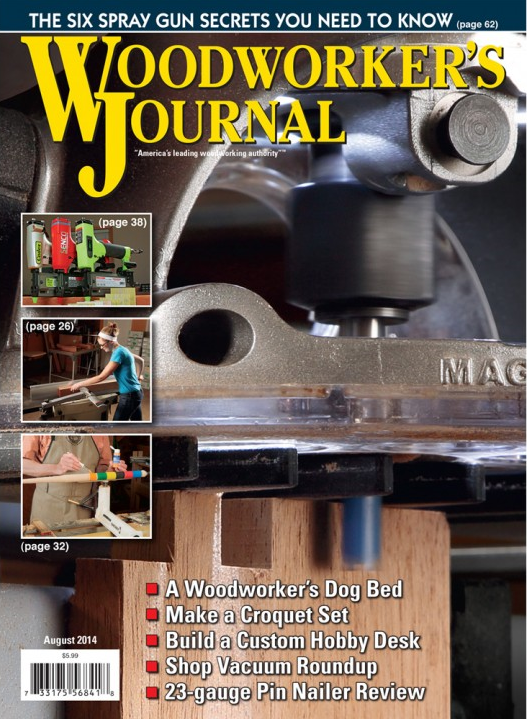woodworkers journal august 2014
